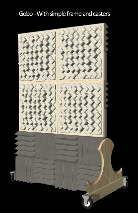 DIY-gobo foam diffuser -new stand