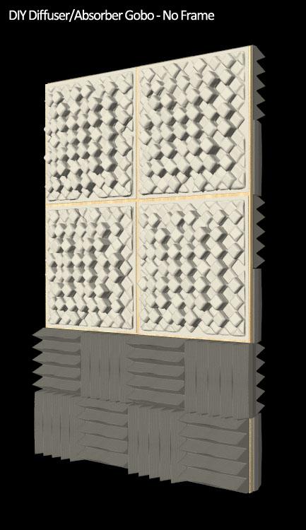 DIY-gobo foam diffuser no frame front