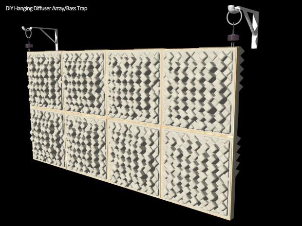 bass trap foam diffuser - front