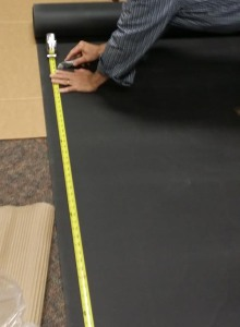 Measure and Mark the length of the wall on the BlockAid®