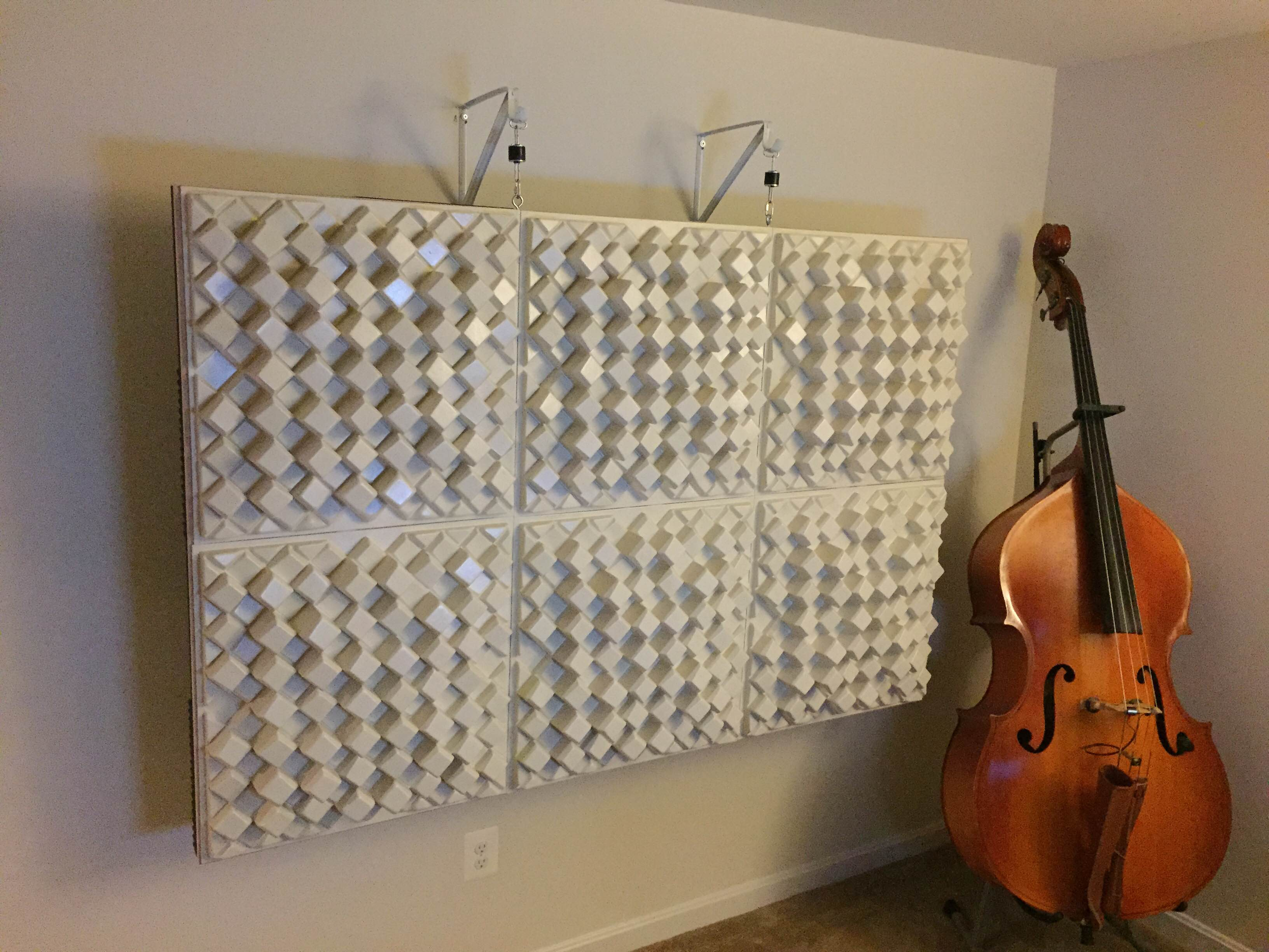 Diy Back Wall Diffuser Array Bass Trap Revisited