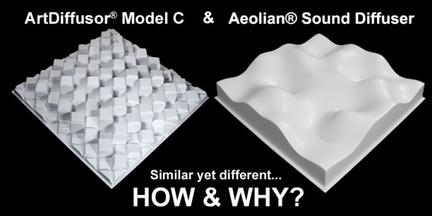 Art Diffusor Model C vs. Aeolian Sound Diffuser