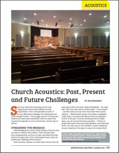 TFWM august 2020 Acoustics First article