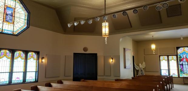 back corner of hall