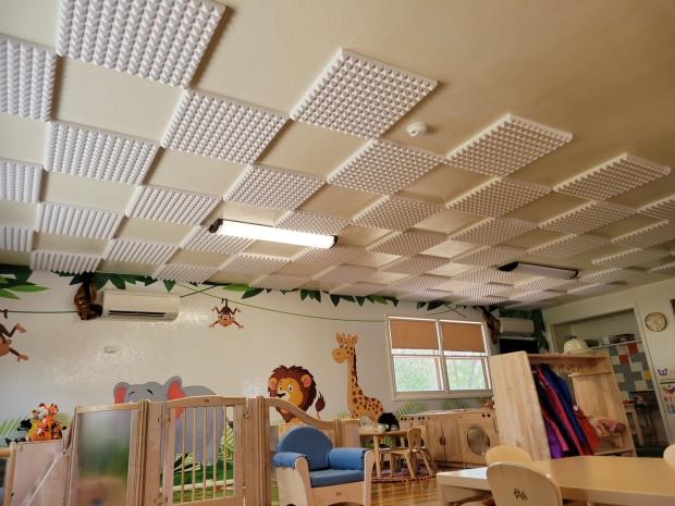 Foam on the ceiling